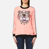 Kenzo Women's Crepe Back Satin Tiger Sweatshirt Flamingo Pink