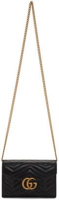 Gucci Black Mini GG Marmont Shoulder Bag