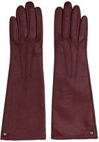 Reiss Starling - Dents Long Leather Gloves in Red, Womens