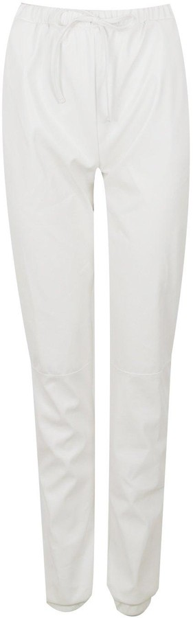 Thumbnail for your product : boohoo Tall Faux Leather Seam Joggers