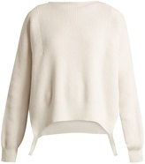 Helmut Lang Side-loop cotton, wool and cashmere-blend sweater