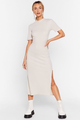 Nasty Gal Womens Here's the Tee Maxi Dress - Stone
