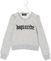 DSQUARED2 logo print sweatshirt - kids - Cotton/Rayon - 4 yrs