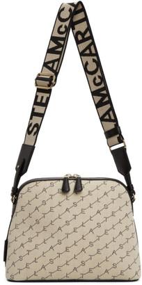 Stella McCartney Beige Canvas Monogram Shoulder Bag