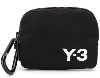 Y-3 Logo Printed Zipped Purse