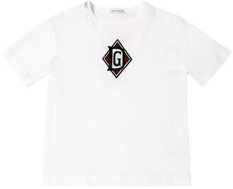 Dolce & Gabbana Cotton Jersey T-Shirt W/ Logo Patch