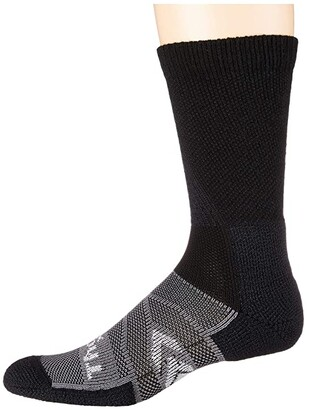 Thorlos 12-Hour Shift Work Crew Socks Single Pair (White/Grey) Crew Cut Socks Shoes