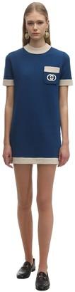 Gucci Short Sleeved Wool Knit Mini Dress