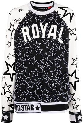 Dolce & Gabbana Royal Star Pattern Sweatshirt
