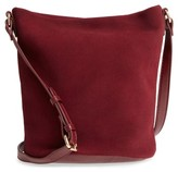Sole Society Lana Slouchy Suede Crossbody Bag - Red
