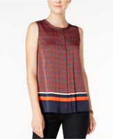 Tommy Hilfiger Printed Pleated Shell, Only at Macy's