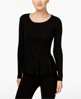 INC International Concepts Lace-Inset Peplum Sweater, Only at Macy's