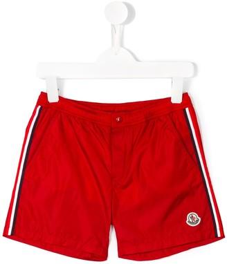 Moncler Enfant Side Stripe Swim Shorts