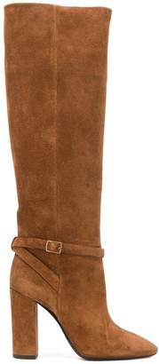 Saint Laurent Buckled Knee-Length Boots