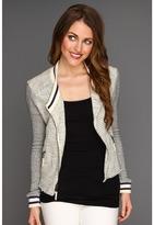 Splendid Rydell Boucle Jacket (Natural Heather Grey) - Apparel