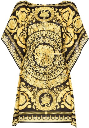 Versace Baroque-Print Kaftan Dress