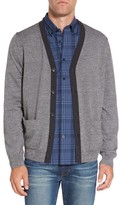 Nordstrom Men's Big & Tall Block Wool Cardigan