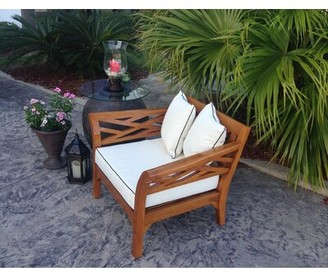 Long Island Teak Patio Chair with Cushion Chic Teak