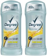 Degree MotionSense Invisible Solid Anti-Perspirant and Deodorant, Fresh Energy - 2.6 oz - 2 pk