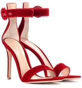 Gianvito Rossi Portofino 105 velvet sandals