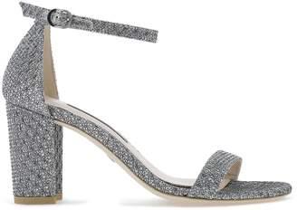 Stuart Weitzman Nearlynude Block Heel Sandals