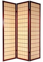 Oriental Furniture Asian Bamboo Decor 6-Feet Kimura Japanese Shoji Screen Room Divider