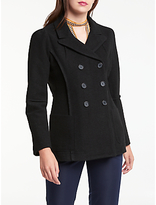 Max Studio Double Breasted Wool Blend Coat, Black