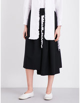 Comme des Garcons Frilled-trims high-rise wool skirt