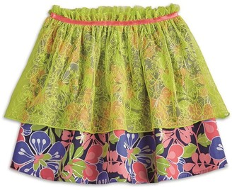 AMERICAN GIRL -Tiered Tropical Skirt for Girls - Size: Extra Small (More Sizes Available)