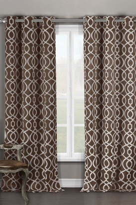 Duck River Textile Harris Blackout Grommet Curtain - Set of 2 - Chocolate