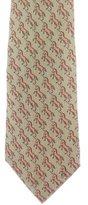 Hermes Unicorn Print Silk Tie
