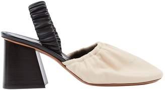 Celine Beige Leather Mules & Clogs