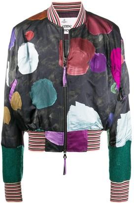 Vivienne Westwood Wilma painted bomber jacket