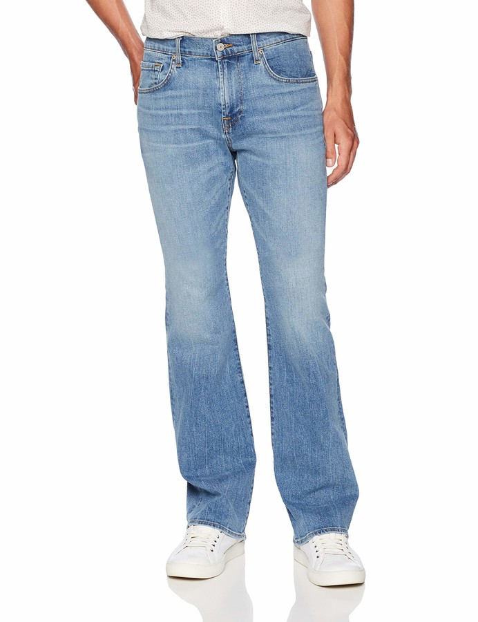 7 For All Mankind Mens Jeans Light Wash Relaxed Fit Straight Leg Pant
