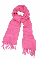 LoveQuotes Scarves Love Quotes Linen Tassel Fringe Scarf in Flamingo