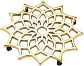 Mela Artisans Brass Lotus Flower Noor Trivet