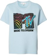 Marc Jacobs MTV branded T-shirt - women - Polyamide/Polyester/Wool/Tencel - M
