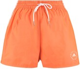 Thumbnail for your product : Stella McCartney Josie Logo Print Track Shorts - Adidas By