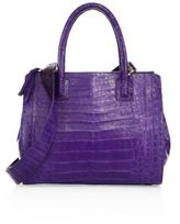 Nancy Gonzalez Small Double-Zip Crocodile Tote