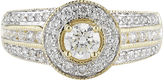 JCPenney MODERN BRIDE 1 CT. T.W. Certified Diamond 14K Yellow Gold Bridal Ring