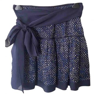 Louis Vuitton Blue Silk Skirt for Women