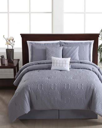 Style 212 Puff Wedding Ring Gray 7Pc Comforter Set