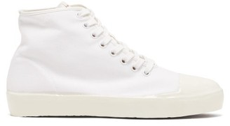 Marni Rubber-sole Canvas Trainers - White