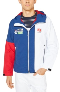 Nautica Men's Big & Tall Hooded Colorblock Jacket