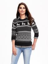 Old Navy Reindeer-Graphic Sweater for Women