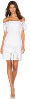 Nicholas Sunflower Lace Off Shoulder Dress
