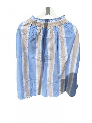 Renli Su Blue Cotton Skirts