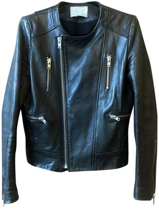 IRO Black Leather Leather Jacket for Women