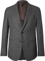 Caruso - Grey Butterfly Slim-fit Unstructured Wool-hopsack Blazer