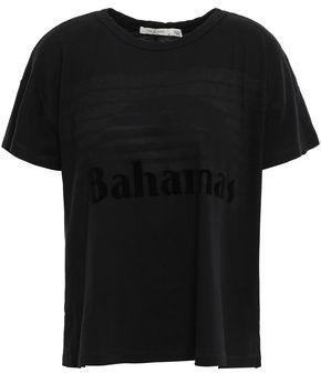 Rag & Bone Appliqued Burnout Cotton-blend Jersey T-shirt